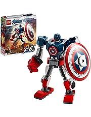 LEGO 76168 Marvel Avengers Captain America Mecha Bouwset met Poppetje, Actiefiguur voor Kinderen van 7 Jaar en Ouder