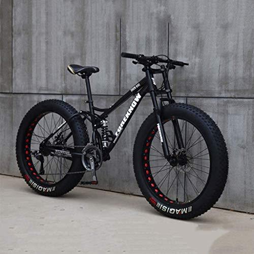 RLF LF Fat Tire Mens Mountainbike, MTB Fiets Mannen Vrouwen Student Variabele Snelheid Fiets, 24 Inch 7/21/24/27 Speed…