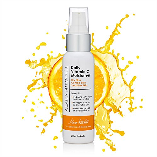 Anti-Aging Hydrating Vitamin C Skin Moisturizer For Face, Wrinkle Cream By Alana Mitchell 2oz