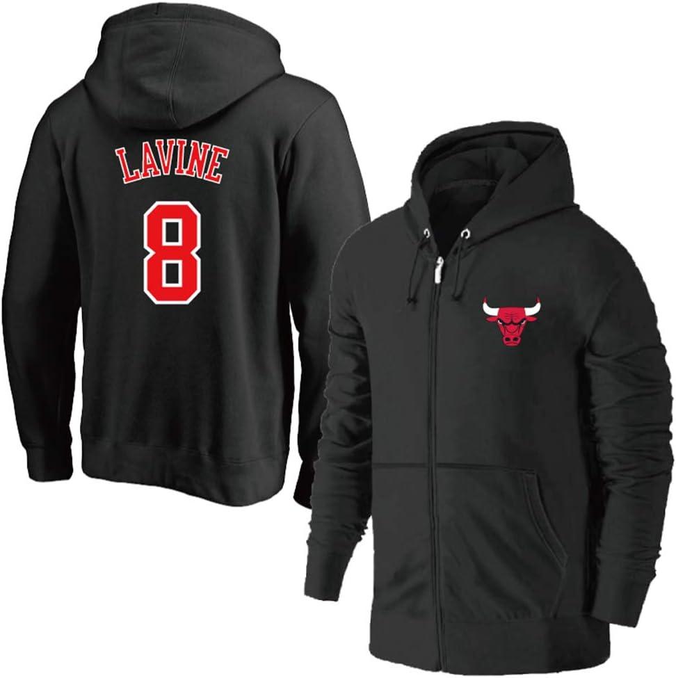 Chicago Bulls 8# LaVine Fermeture éclair Veste Jerseys Au