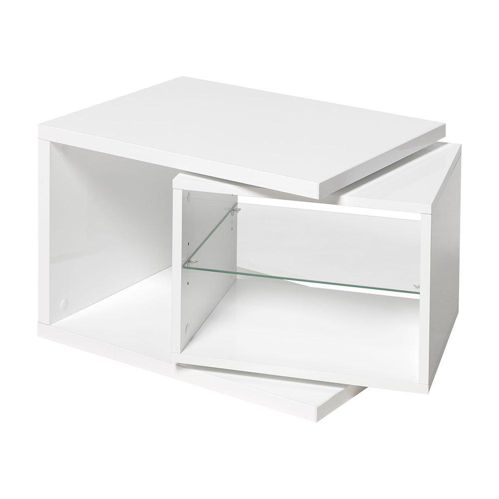 Unbekannt FMD Möbel 643-001 Beistelltisch Holz, weiß, 65 x 40 x 37,5 cm