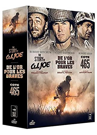 Coffret Guerre - 3 films : De l'or pour les braves + The Story of G.I. Joe + Côte 465 [Francia] [DVD]