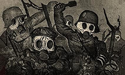OTTO DIX SHOCK TROOPS ADVANCE UNDER GAS 1924 NEW OBJECTIVITY WEIMAR WWI A3 PRINT
