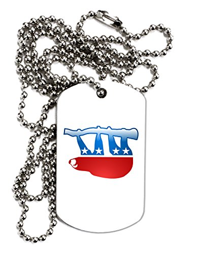 Tooloud Sloth Political Party Symbol Adult Dog Tag Chain Necklace -