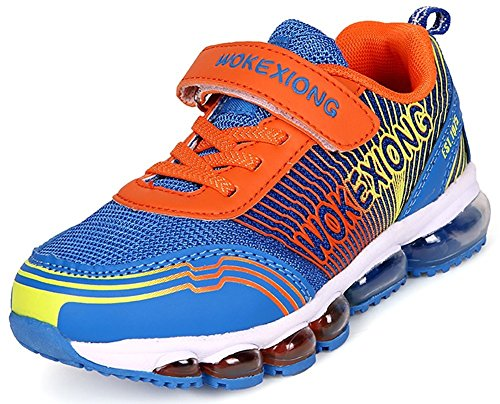 PET WITH ME Fashion Kids Dash Air Running Tennis Velcro Boys School Athletic Sneakers (Little Kid/Big Kid) Blue4 M US Big Kid Hot Sell.