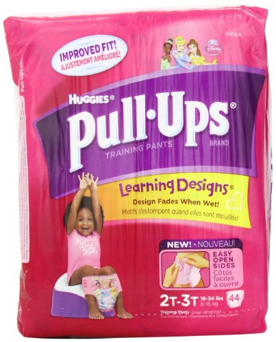 Huggies Pull-Ups Training Pants, with Learning Designs, 2T-3T, 44-Count