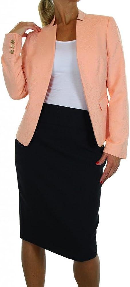 6304-1) chaqueta de sastre con falda de brocado y Pesca Abrir ...