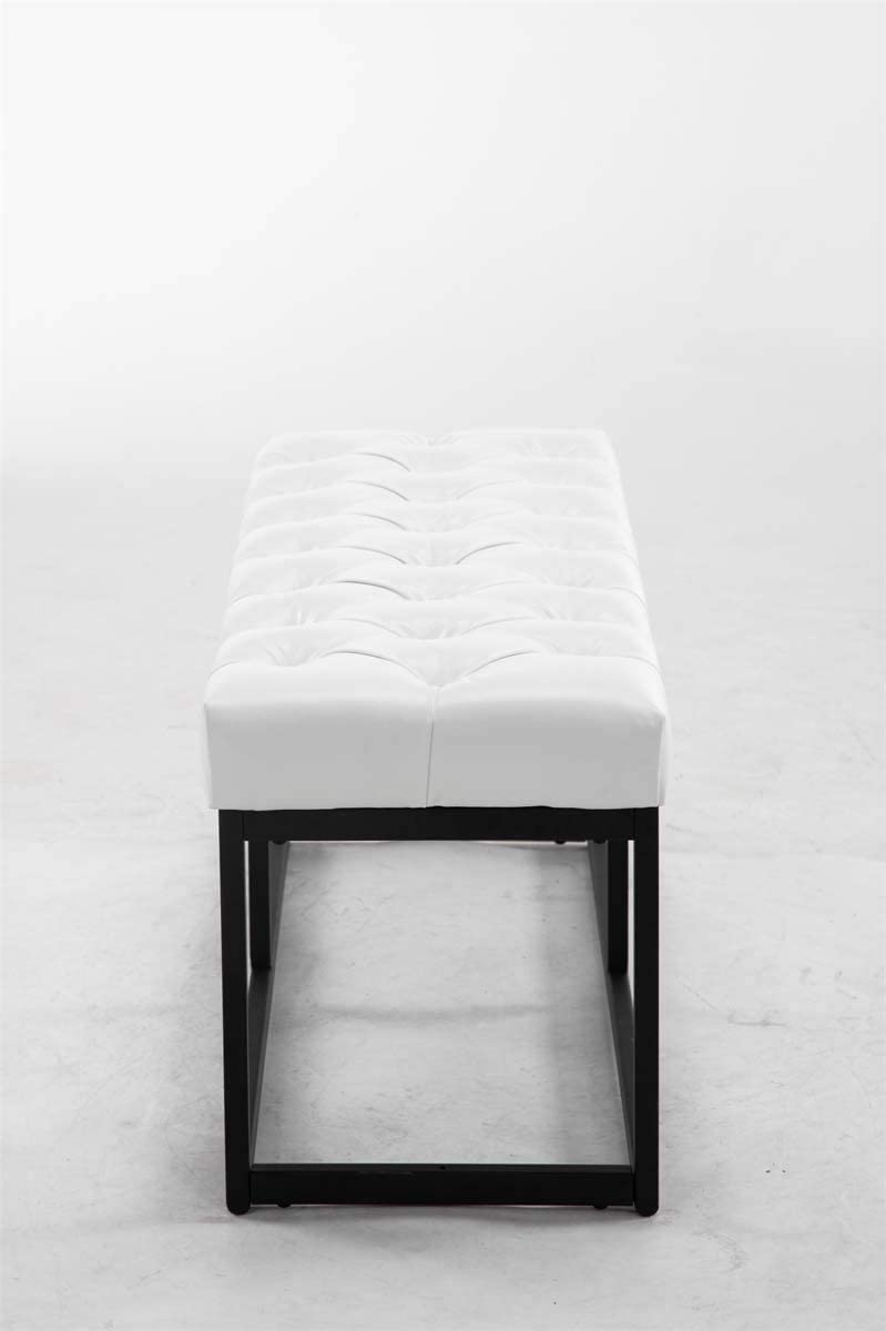 150 x 40 cm rev/êtement en Simili-Cuir diff/érente Longueur : 100 120 Hauteur en CLP Banc Design AMUN en Acier Inoxydable Taille:100 cm Couleurs:Blanc 45 cm