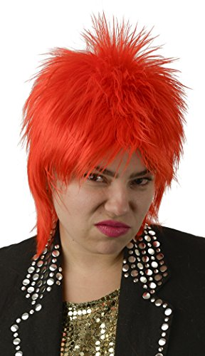 Ziggy Stardust Bowie Red Mullet Costume Wig