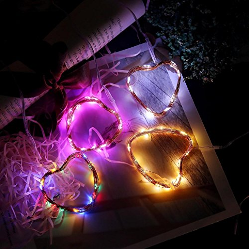 certainPL LED String Fairy Lights, 6.5ft with 20 LEDs, Battery Powered Waterproof Decorative Lights for Wedding Party Home Garden Bedroom Outdoor Indoor Decor (Multicolor) by certainPL (Image #2)