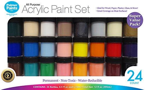 Palmer Paints Palmer Prism 1/2oz 24 Acrylic Paint Jar Set 24ct (Jar Paint Acrylic)