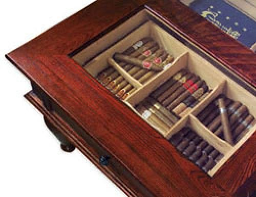 - Quality Importers Trading HUM-CTH-M Coffee Table Humidor