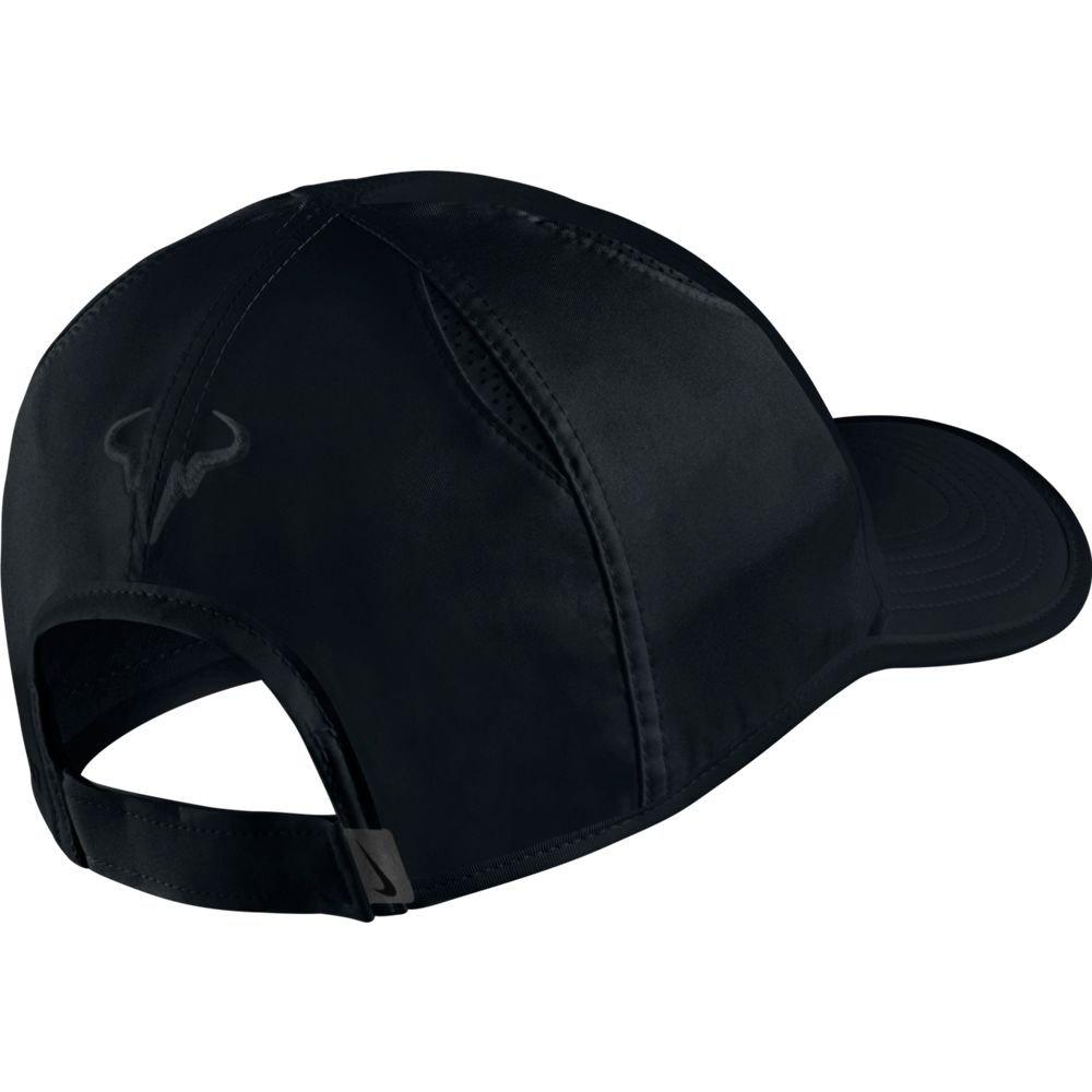 5a0454fd10297 Amazon.com: Nike Mens Nike Rafael Nadal Featherlight Adjustable Tennis Hat  Black/Black: Toys & Games