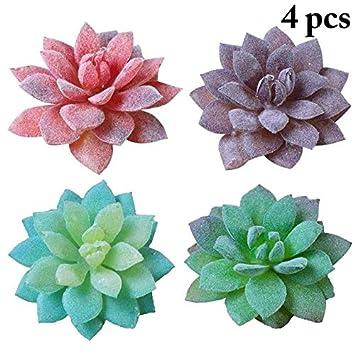 Christmas Succulent Arrangement.Amazon Com Hockus Decorations 4pcs Artificial Succulent