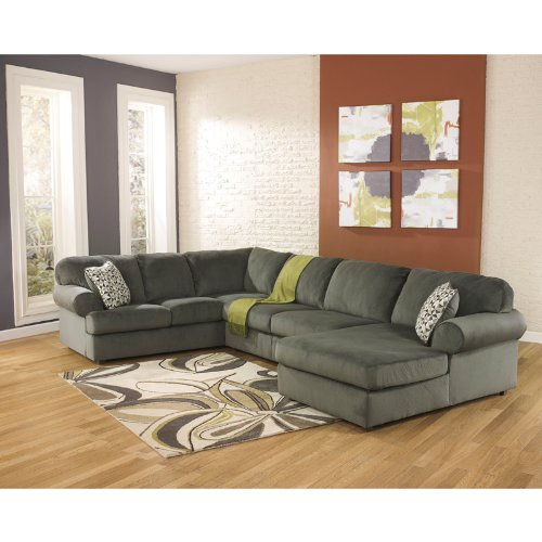 Signature Design by Ashley Jessa Place Sectional Sofa, Pewter Fabric