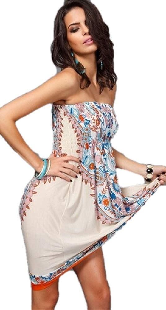 Ducomi Chic - Vestido de Mujer Elegante - Vestido sin Tirantes de ...