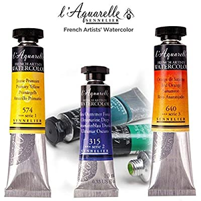 Sennelier L'Aquarell French Watercolor Half Pan Replacements