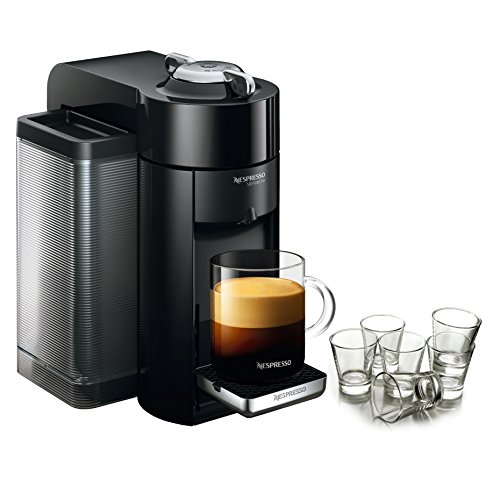 Nespresso VertuoLine Evoluo Deluxe Piano Black Coffee and Es