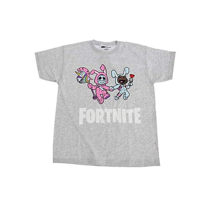 51RrZZV7AjL Camiseta de Fortnite. Cuenta con impresión gráfica de Rabbit Raider y Bunny Brawler. 100% Algodón