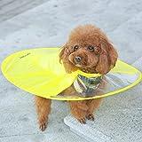 DICPOLIA Pet Supplies Dog Sunblock, Adjustable UFO Dog Raincoat Slicker Rain Jacket, Reflective Clear Dog Puppy Waterproof Raincoat Teddy Puppy Yorkshire Corgis Bulldog Small Size Dogs (XL, Yellow)