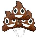 Poop Emoji Mylar Balloon 3pk
