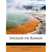 English or Roman
