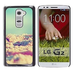 YOYOYO Smartphone Protección Defender Duro Negro Funda Imagen Diseño Carcasa Tapa Case Skin Cover Para LG G2 D800 D802 D802TA D803 VS980 LS980 - arena de la playa del trullo sol del verano viñeta