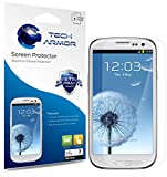 Tech Armor Samsung Galaxy S3 SIII Premium High Definition (HD) Clear Screen Protectors with Lifetime Replacement Warranty [3-Pack] – Retail Packaging image