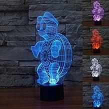 SUPERNIUDB Ninja Turtle 3d Night Light LED Light Kids Living room Table Lamp LED Bulbing Lamp Decorate