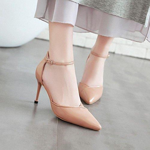 Femmes Bout Pointue TAOFFEN 8 Sandales D'Orsay pour Apricot Chaussures SfnSq6g4