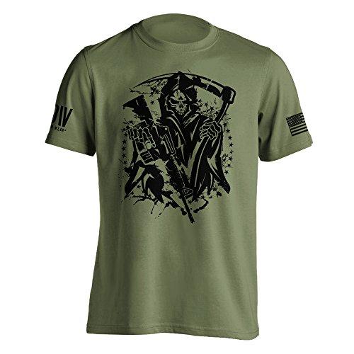 Dion Wear American Grim Reaper Military T-Shirt Medium