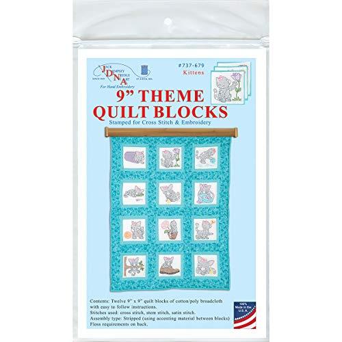"Jack Dempsey Needle Art Kittens 9"" Theme Quilt Blocks"