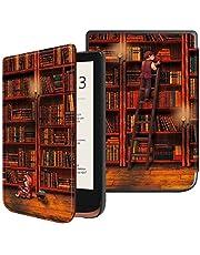 Fintie Slimshell Hoes voor Pocketbook Touch HD 3 / Touch Lux 4 / Basic Lux 2 E-Reader - Premium Lichtgewicht PU Leer Case Cover met Automatische Slaap/Waak Functie, Library
