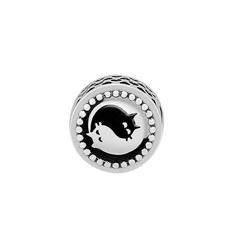 dd758cdcb Amazon.com: CKK DIY Fits for Pandora Beads Bracelets Black and White ...