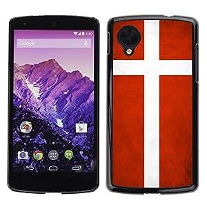 Shell-Star ( National Flag Series-Denmark ) Snap On Hard Protective Case For LG Google NEXUS 5 / E980