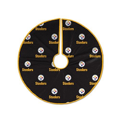 NFL Pittsburgh Steelers Christmas Tree Skirt (Pittsburgh Steelers Ornaments)