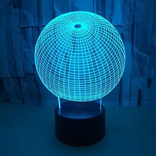 ナイトライトled USB LED 3Dライトモデル3Dの誘導夜ライト雰囲気の寝室の装飾として 常夜灯 (Color : Black, Size : 22X15.3X5.5CM)