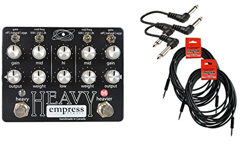 Empress Effects Heavy Multidrive Cable Bundle w/ 4 free Items: 2x 18.6' Strukture Cables, 2x Hosa Patch Cables