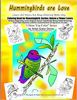 hummingbirds are love learn art styles the easy coloring book way