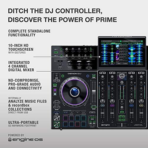 Denon DJ PRIME 4 | 4 Deck Standalone Smart DJ Console / Serato DJ Controller with Built In 4 Channel Digital Mixer and…