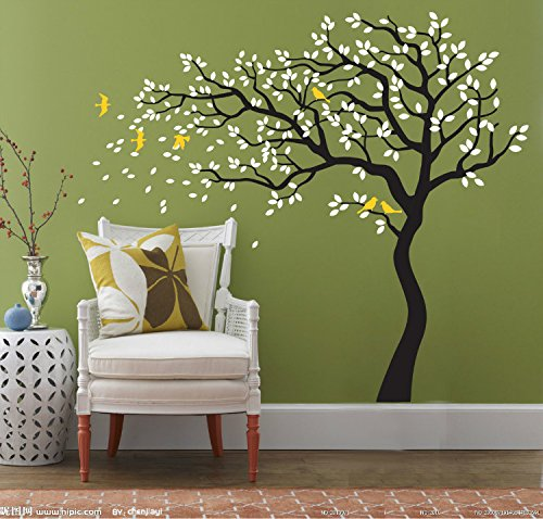 Yanqiao diy removable wall art decoration wall mural vinyl for Cherry blossom tree wall mural