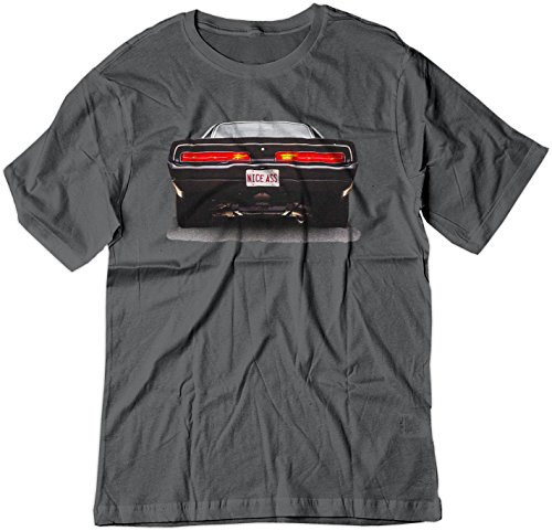 BSW Men's Nice Ass 1969 Dodge Charger V8 American Muscle Shirt XL Charcoal