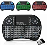 Ezonedeal Mini Wireless Keyboard with Touchpad Mouse 2.4GHz LED Backlit Multi-Media Handheld Android Keyboard for Pc, Pad, Xb
