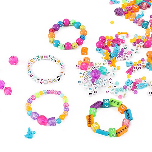 Liberty Imports ABC Beads /& Charms Friendship Bracelet Jewelry Making Kit Over 1000 Beads