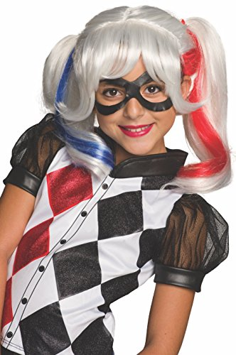 Wig Mask (Rubie's Costume Girls DC Super Hero Harley Quinn Wig)