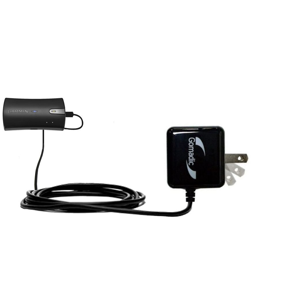 Gomadic High Output Home Wall AC Charger designed for the Garmin GLO with Power Sleep technology - Intelligently designed with Gomadic TipExchange