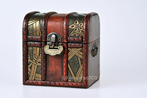 The Elven Chest (Growth): a Lockable Wooden Deck & Counter Box for Deck Protector storage Trading Cards TCG MTG Magic the Gathering EDH Commander Pokemon Yugioh Force of Will Arkham Horror LCG