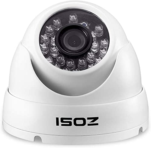 ZOSI 2.0MP HD-TVI Security Camera for Outdoor Indoor Security CCTV System-Surveillance Dome 1080P White Camera