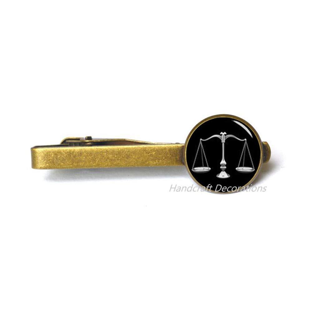 HandcraftDecorations Lawyer Tie Clip Attorney Tie Clip Libra Tie Clip Attorney Gift Scales Tie Clip Lawyer Gifts Law School Graduation Gift Lawyer Jewelry Scales.F037