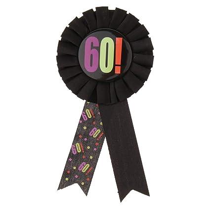 Amazon.com: Broche con diseño de roseta de 60 cumpleaños ...